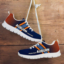 Load image into Gallery viewer, Designs by MyUtopia Shout Out:#FlyWarEagle Auburn Fan Running Shoes,Mens US5 (EU38) / Navy Blue/Orange,Running Shoes