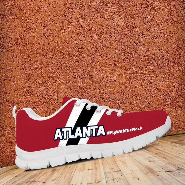 Designs by MyUtopia Shout Out:#FlyWithTheFlock Atlanta Fan Running Shoes