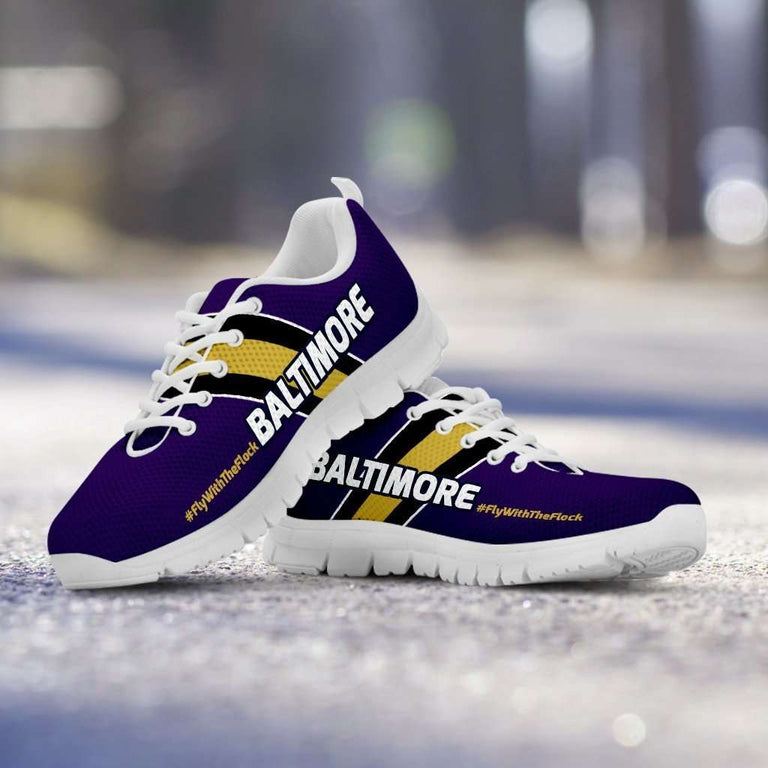 Designs by MyUtopia Shout Out:#FlyWithTheFlock Baltimore Fan Running Shoes
