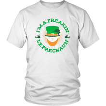Load image into Gallery viewer, Designs by MyUtopia Shout Out:Freakin' Leprechaun T-Shirt,White / S,Adult Unisex T-Shirt