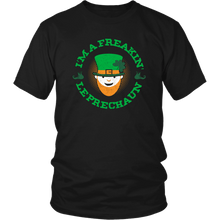 Load image into Gallery viewer, Designs by MyUtopia Shout Out:Freakin' Leprechaun T-Shirt,Black / S,Adult Unisex T-Shirt