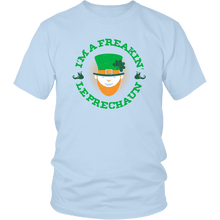 Load image into Gallery viewer, Designs by MyUtopia Shout Out:Freakin' Leprechaun T-Shirt,Ice Blue / S,Adult Unisex T-Shirt
