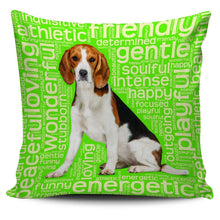Load image into Gallery viewer, Designs by MyUtopia Shout Out:Funny Beagle Word Cloud Pillowcases,Green,Pillowcases