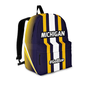Designs by MyUtopia Shout Out:#GoBlue Michigan Backpack,Large (18 x 14 x 8 inches) / Adult (Ages 13+) / Blue/Yellow/White,Backpacks