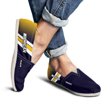 Load image into Gallery viewer, Designs by MyUtopia Shout Out:#GoBlue Michigan Casual Canvas Slip on Shoes Women's Flats