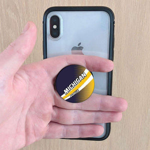 Designs by MyUtopia Shout Out:#GoBlue Michigan Fan Pop-out Phone Grip for Smartphones and Tablets