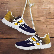 Load image into Gallery viewer, Designs by MyUtopia Shout Out:#GoBlue Michigan Fan Running Shoes