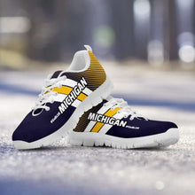 Load image into Gallery viewer, Designs by MyUtopia Shout Out:#GoBlue Michigan Fan Running Shoes,Mens US5 (EU38) / Blue/Yellow,Running Shoes