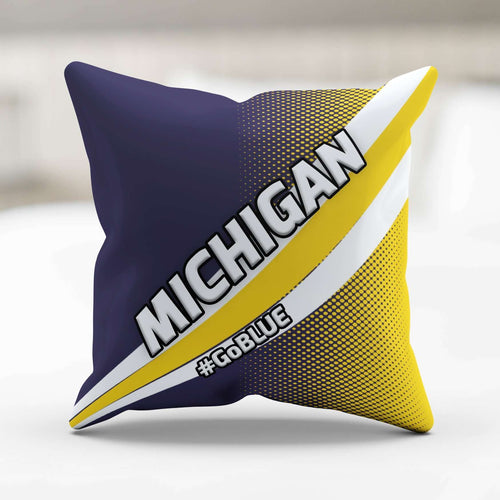 Designs by MyUtopia Shout Out:#GoBlue Michigan Pillowcase