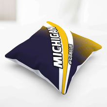 Load image into Gallery viewer, Designs by MyUtopia Shout Out:#GoBlue Michigan Pillowcase