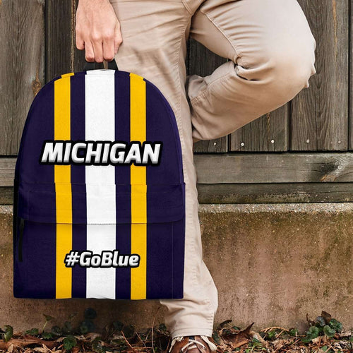 Designs by MyUtopia Shout Out:#GoBlue Michigan Standard Size Backpack