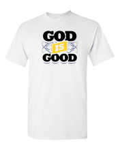 Load image into Gallery viewer, Designs by MyUtopia Shout Out:God Is Good Adult Unisex T-Shirt,White / S,Adult Unisex T-Shirt