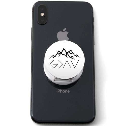 Designs by MyUtopia Shout Out:God is Greater than My Highs and Lows John 16:33 Phone Grip for Smartphones and Tablets
