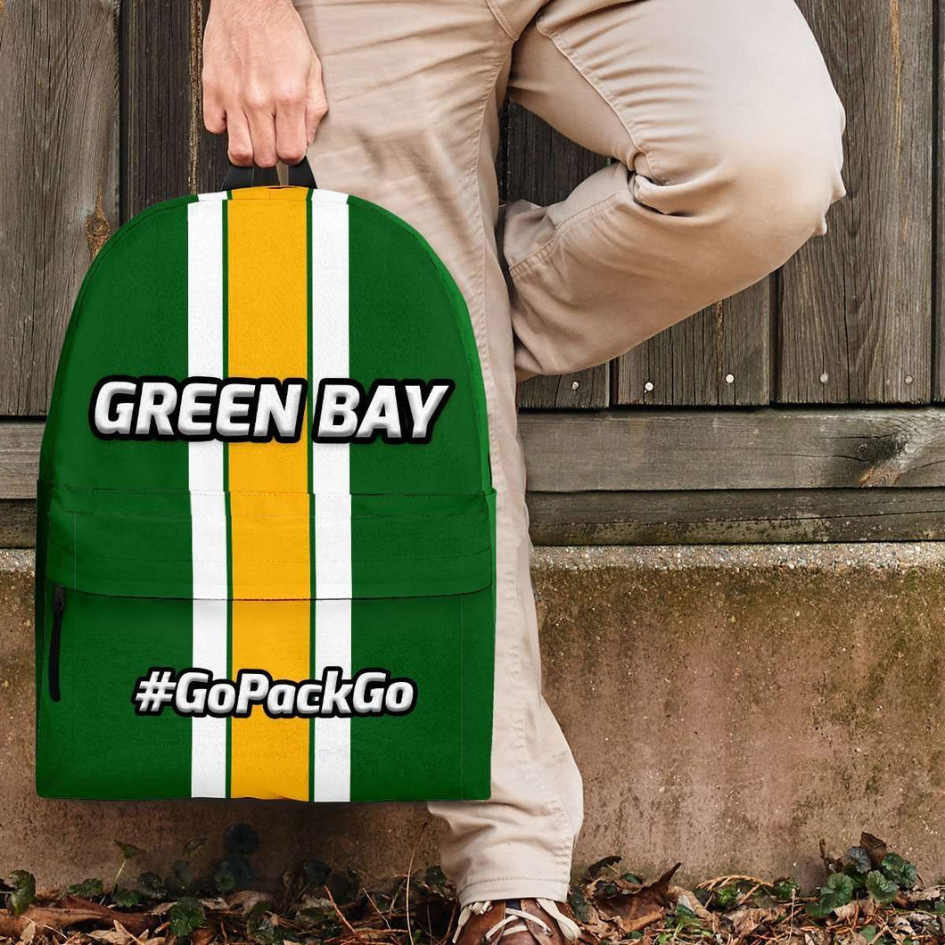 Designs by MyUtopia Shout Out:#GoPackGo Green Bay Backpack