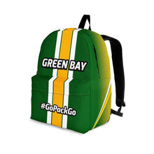 Load image into Gallery viewer, Designs by MyUtopia Shout Out:#GoPackGo Green Bay Backpack,Large (18 x 14 x 8 inches) / Adult (Ages 13+) / Green,Backpacks