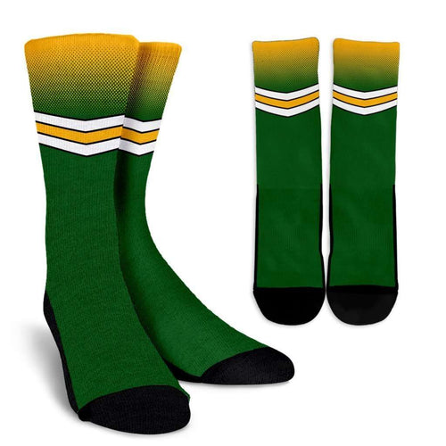 Designs by MyUtopia Shout Out:#GoPackGo Green Bay Crew Socks,Small/Medium / Green,Socks