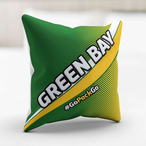 Designs by MyUtopia Shout Out:#GoPackGo Green Bay Fan Accent Pillow Cover Pillowcase