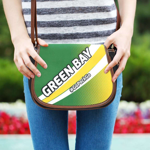 Designs by MyUtopia Shout Out:#GoPackGo Green Bay Fan Canvas Saddlebag Style Crossbody Purse