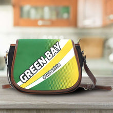 Load image into Gallery viewer, Designs by MyUtopia Shout Out:#GoPackGo Green Bay Fan Canvas Saddlebag Style Crossbody Purse