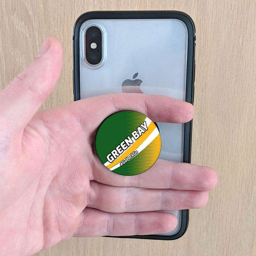 Designs by MyUtopia Shout Out:GoPackGo Green Bay Fan Pop-out Phone Grip for Smartphones and Tablets