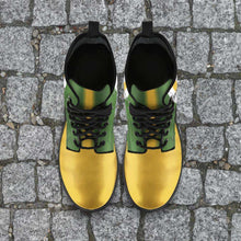 Load image into Gallery viewer, Designs by MyUtopia Shout Out:#GoPackGo Green Bay Faux Leather 7 Eye Lace-up Boots
