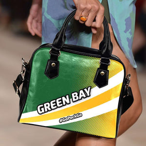 Designs by MyUtopia Shout Out:#GoPackGo Green Bay Faux Leather Handbag with Shoulder Strap