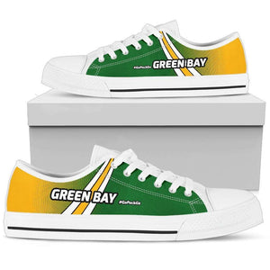 Designs by MyUtopia Shout Out:#GoPackGo Green Bay Lowtop Shoes