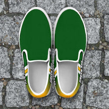 Load image into Gallery viewer, Designs by MyUtopia Shout Out:#GoPackGo Green Bay Slip-on Shoes,Men's / Mens US8 (EU40) / Green,Slip on sneakers