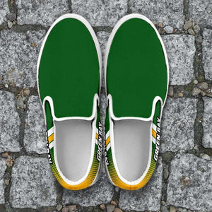 Designs by MyUtopia Shout Out:#GoPackGo Green Bay Slip-on Shoes,Men's / Mens US8 (EU40) / Green,Slip on sneakers