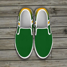 Load image into Gallery viewer, Designs by MyUtopia Shout Out:#GoPackGo Green Bay Slip-on Shoes
