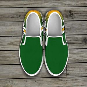 Designs by MyUtopia Shout Out:#GoPackGo Green Bay Slip-on Shoes