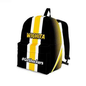 Designs by MyUtopia Shout Out:#GoShockers Wichita Backpack,Large (18 x 14 x 8 inches) / Adult (Ages 13+),Backpacks