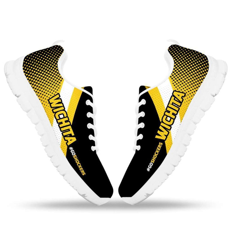 Designs by MyUtopia Shout Out:#GoShockers Wichita Fan Running Shoes v2