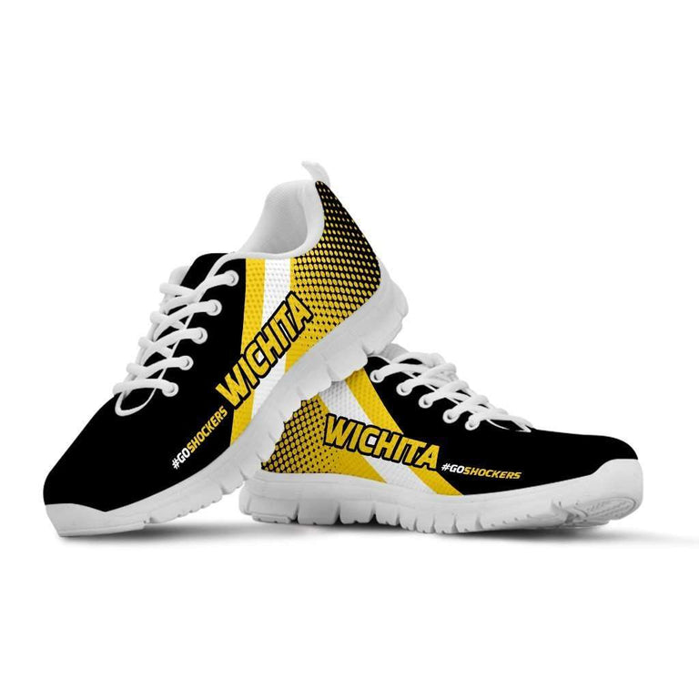 Designs by MyUtopia Shout Out:#GoShockers Wichita Fan Running Shoes v2,Kid's / 11 CHILD (EU28) / Yellow/Black,Running Shoes