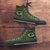 Designs by MyUtopia Shout Out:Green Bay Packers Ugly Christmas Style Canvas High Top Shoes,Men's / Mens US 5 (EU38) / Green,High Top Sneakers