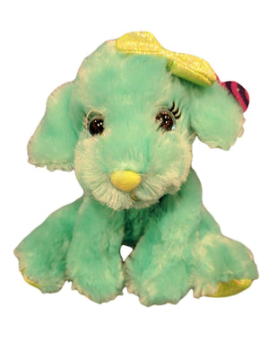 Designs by MyUtopia Shout Out:Green Puppy 7-inch Plush Stuffed Animal Toy