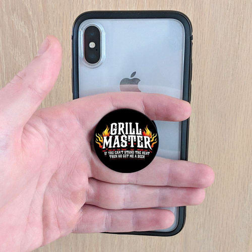 Designs by MyUtopia Shout Out:Grill Master - Get me a Beer Pop-out Phone Grip for Smartphones and Tablets