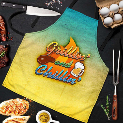 Designs by MyUtopia Shout Out:Grillin and Chillin Apron, Kitchen, Baking, BBQ, Grilling