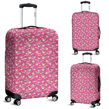 Load image into Gallery viewer, Designs by MyUtopia Shout Out:Happy Beeps BB-8 and Rebel Logos Luggage Cover Pink,Carry-on/Cabin/Small / Pink,Luggage Cover