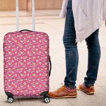 Load image into Gallery viewer, Designs by MyUtopia Shout Out:Happy Beeps BB-8 and Rebel Logos Luggage Cover Pink
