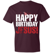 Load image into Gallery viewer, Designs by MyUtopia Shout Out:Happy Birthday Jesus - Lightweight Unisex T-Shirt,Maroon / S,Adult Unisex T-Shirt