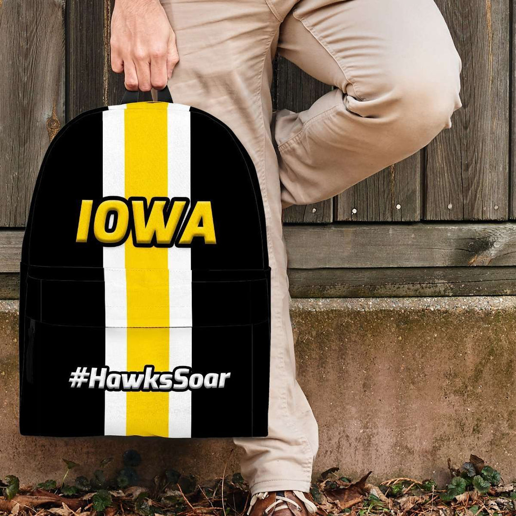 Designs by MyUtopia Shout Out:#HawksSoar Iowa Backpack