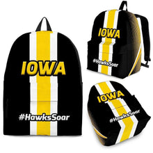 Load image into Gallery viewer, Designs by MyUtopia Shout Out:#HawksSoar Iowa Backpack