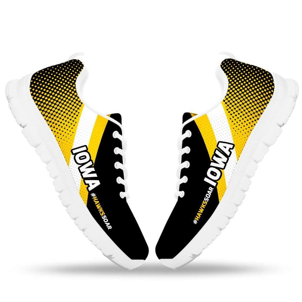 Designs by MyUtopia Shout Out:#HawksSoar Iowa Fan Running Shoes