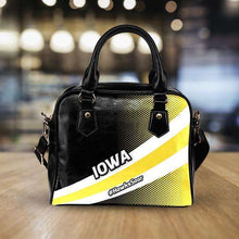 Load image into Gallery viewer, Designs by MyUtopia Shout Out:#HawksSoar Iowa Faux Leather Handbag with Shoulder Strap