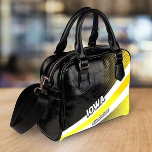 Designs by MyUtopia Shout Out:#HawksSoar Iowa Faux Leather Handbag with Shoulder Strap