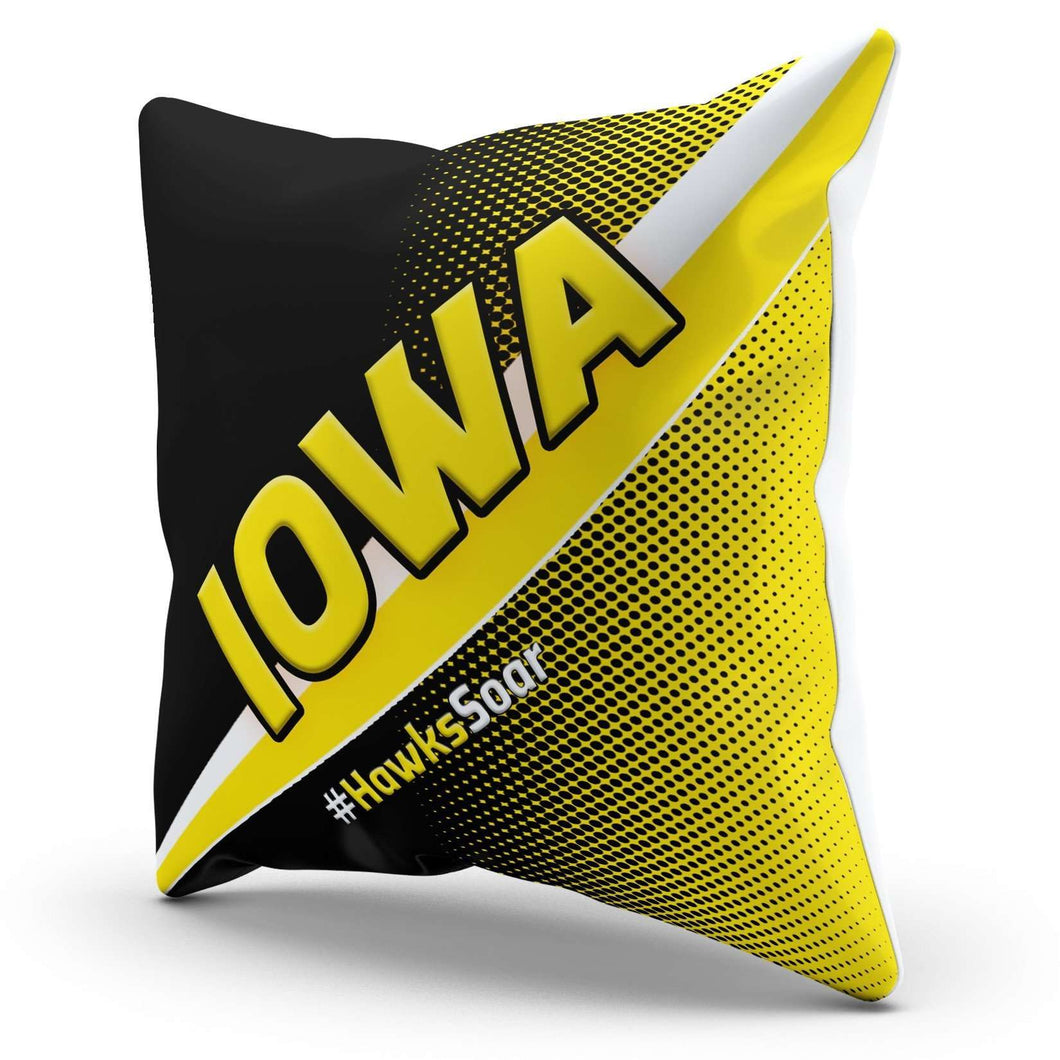 Designs by MyUtopia Shout Out:#HawksSoar Iowa Pillowcase