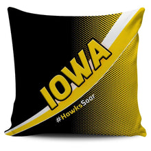 Load image into Gallery viewer, Designs by MyUtopia Shout Out:#HawksSoar Iowa Pillowcase