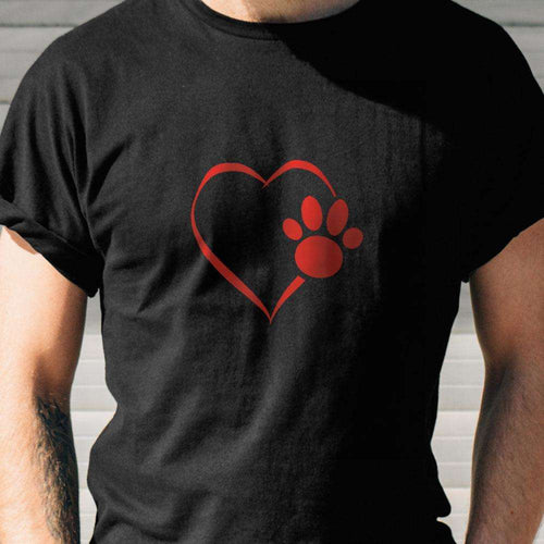 Designs by MyUtopia Shout Out:Heart Dog Paw Ultra Cotton Unisex T-Shirt