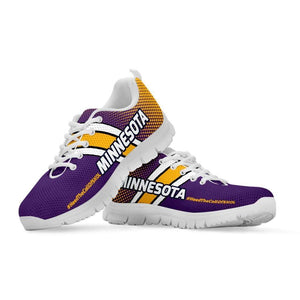 Designs by MyUtopia Shout Out:#HeedTheCallOfSkol Minnesota Fan Running Shoes v2,Kid's / 11 CHILD (EU28) / Violet/Gold,Running Shoes